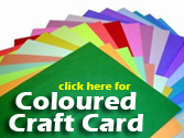 coloured craft card