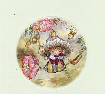 Victoria Plum - Poppy Swing Card Topper - 8