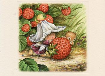 Victoria Plum - Strawberry Feast - Textured Card Topper - 8