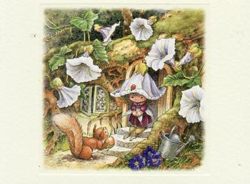 Victoria Plum - Visiting Mr Squirrel- Textured Card Topper - 8