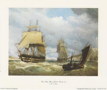 Sailing Ship - First Rate Ships off the Needles 1858 - 6