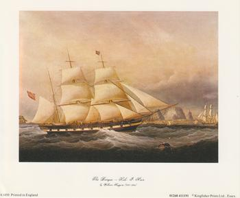 LIMITED STOCK - Sailing Clipper Ship - The Barque - Koh J Noor by William Huggins (1820-1884) 6