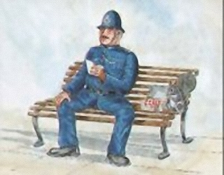 Policeman On Bench C2 Main Gallery Not Known