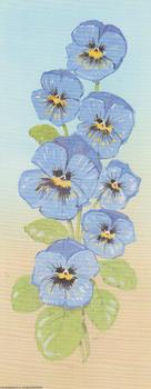 Blue Pansies B8 Main Gallery D Charlesworth