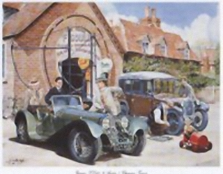 Jaguar LL100 & Austin 7 G Cartwright