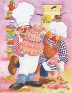 Kitchen Clowns K5 Main Gallery Linda Benton