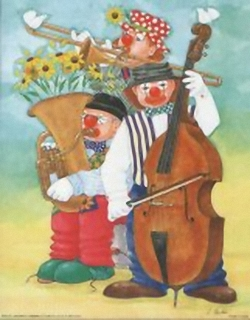 Musical Clowns K4 Main Gallery Linda Benton