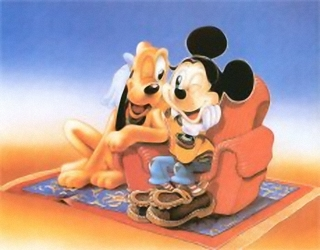 Micky and Pluto New Prints Walt Disney
