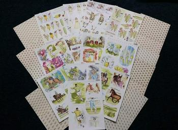 Pack of 20 - 12 Die Cuts & 8 Backing Sheets - Designs May Vary Slightly -