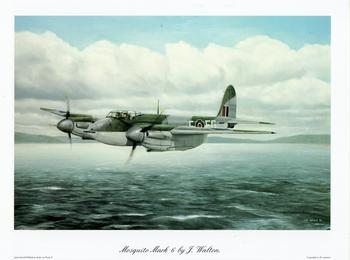 Mosquito Mark 6 Print by J Walton - 11.2
