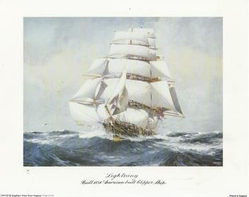 Lightening Ship - Built 1854 American Built Clipper Ship - 10