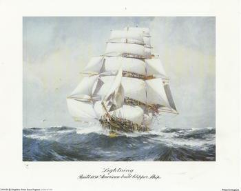 Lightening Ship - Built 1854 American Built Clipper Ship - 10