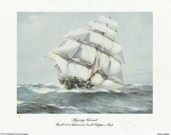 Flying Cloud - Built 1851 American Built Clipper Ship - c1951ch -Jacksons mail Order