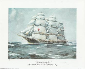 Dreadnought Ship - Built 1853 American Built Clipper Ship - 10