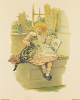 Reading to my best friend - Pussy Cat - Print B 2244 10