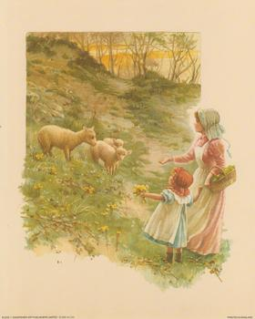 Feeding the Sheep - Print B 2245 10