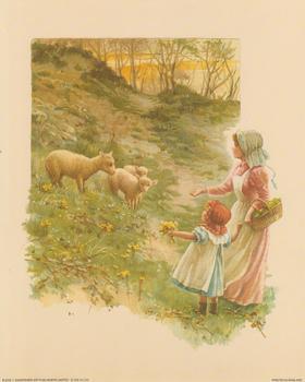 Feeding the Sheep - Print B 2245 10