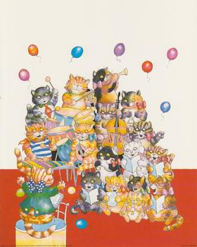 LIMITED STOCK - Cats Choir (red) -  10