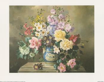 Floral Classics Blue Vase - B2263 10