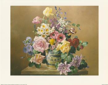 Floral Classics Blue Vase White Horse - B2265 10