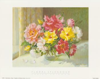 Floral Splendour with yellow, pink & white flowers  by Sheila Fairman - 10
