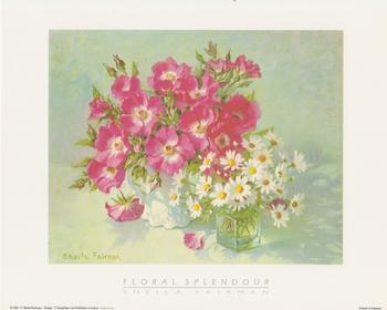LIMITED STOCK - Floral Splendour  with Pink/White Flowers by Sheila Fairman 10
