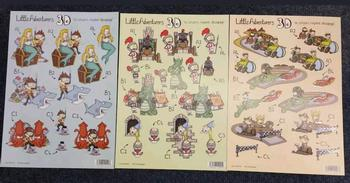 Pack of 3 - Lilttle Adventures - Mermaid, Dragon & Pirates 476 467 470 . *