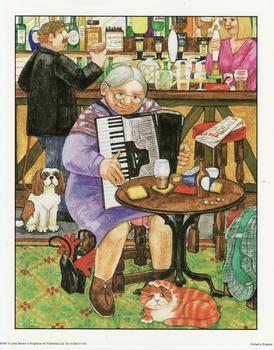 Granny Smith Playing the Accordion by Linda Benton **8