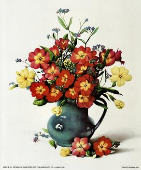 Flowers in a Blue Vase - 5