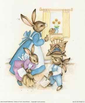Busy Bunnies B - Sharon Healey Print - 5