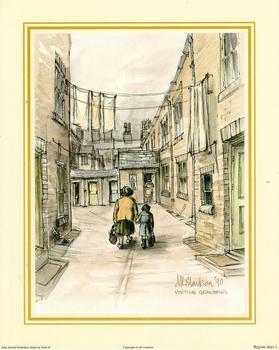 Bygone Days Print 1 - Visiting Grandma's by M L Clarkson - 10
