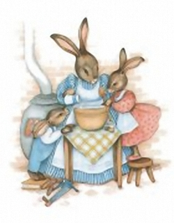 Busy Bunnies C 10x8 Sharon Healey Print - (JA161) Main Gallery Sharon Healey