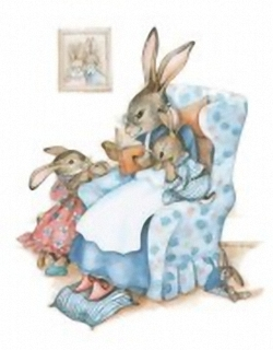 Busy Bunnies D 10x8  Sharon Healey Print (JA162) Main Gallery Sharon Healey