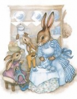 Busy Bunnies A 10x8 - Sharon Healey Print - (JA163) Main Gallery Sharon Healey