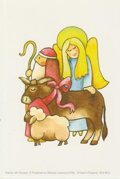 PACK OF 5 - Nativity with Donkey - 4