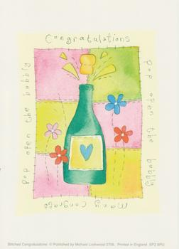 PACK OF 5 - Congratulations - Champagne - by Michael Lockwood 4