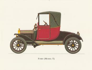 PACK OF 5 - Old Fashioned Red Ford (Model T) 8.5