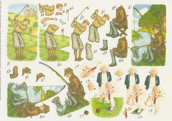 PACK OF 5 - Golfer Fisherman and Bowls Step by Step Sheet by Michael Lockwood - Craft Sheet No . -