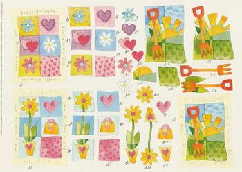 PACK OF 5****Craft Sheet No 83 - Various - Anniversary , Super Mum , Super Dad & Gardening by Michael Lockwood -Jacksons mail Order