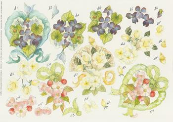 PACK OF 5****Floral Wreaths by Michael Lockwood Craft Sheet No 27 -Jacksons mail Order