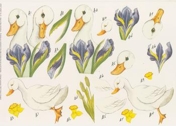 PACK OF 5****Swan Craft Sheet 18 by Michael Lockwood Jacksons Mail Order