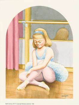 Ballet Dancer / Ballerina by Falkiner 98 - A Michael Lockwood Print 6.5