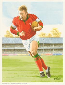 PACK OF 5 ***WELSH RUGBY PLAYER Print by Michael Lockwood 7