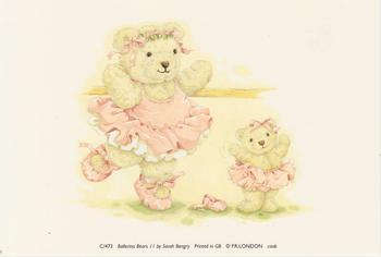 PACK OF 5****Ballerina bear by Sarah Bengry Print C/473 . Jacksons