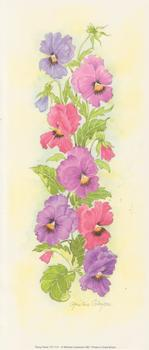 PACK of 5**Pansy Panel** Print CP1111 by Christine Coleyan . -Jacksons mail Order