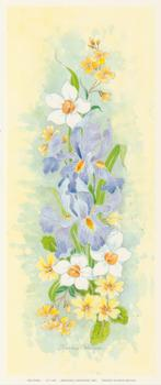 PACK OF 5***Iris Panel*** CP1108 by Christine Coleyan . -Jacksons mail Order