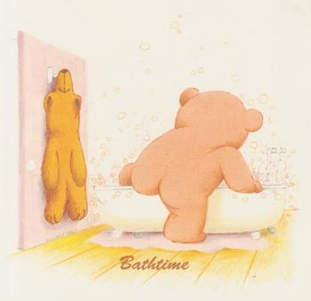 PACK OF 5***BATH TIME - Cute Teddy Bear Card Topper 4