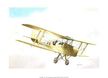 PACK OF 5 *** Tiger Moth Plane by Falkiner CP1152 Print 9