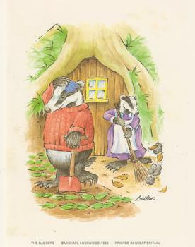 PACK OF 5 **** The Badgers ** A Print by Michael Lockwood  4.5