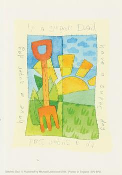 PACK OF 5 *** Super Dad *** - Gardening and Sunrise Card Topper by Michael Lockwood - 4